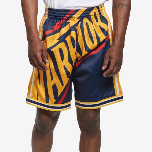Mitchell + Ness Men's Big Face Shorts Golden State Warriors