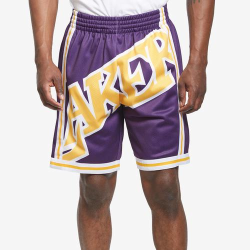 Mitchell + Ness Men's Big Face Shorts Los Angeles Lakers