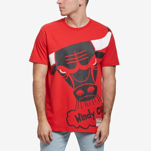 Mitchell + Ness Men's Big Face Tee Chicago Bulls