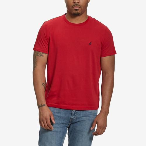 Nautica Men's Solid Crew Neck Short Sleeve T-Shirt