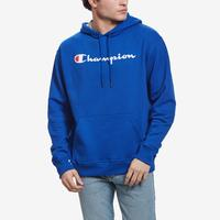 Champion Men's Powerblend Fleece Pullover Hoodie, Script Logo