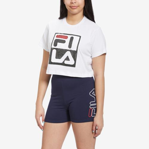 FILA Women's Ava Squin Crop T-Shirt