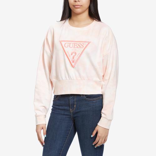 Guess Women's  Mirtilla Tie-Dye Logo Fleece Top