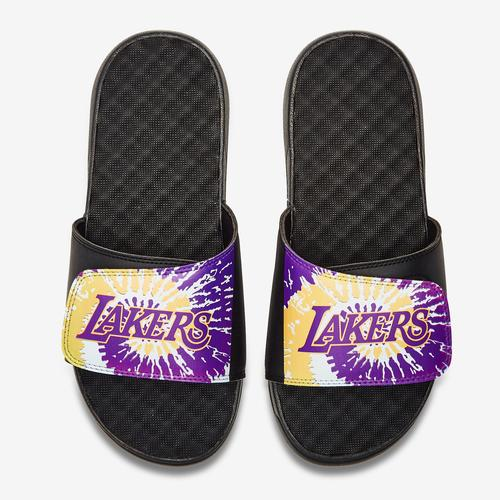 ISLIDE Men's Los Angeles Lakers Tie Dye Logo Slide