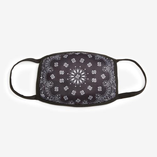 Hudson Solid Paisley Face Mask