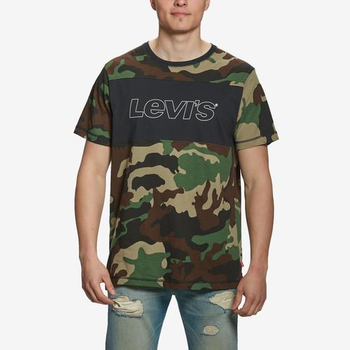 Levis Men's Camo Short Sleeve Logo T-Shirt