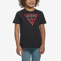 Guess Boy's Short Sleeve Triangle Logo Tee