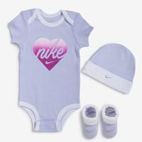 Nike Girl's Infant Purple Heart Lavender 3 Piece Set
