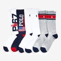 Polo Ralph Lauren Men's Logo Flag Crew Socks