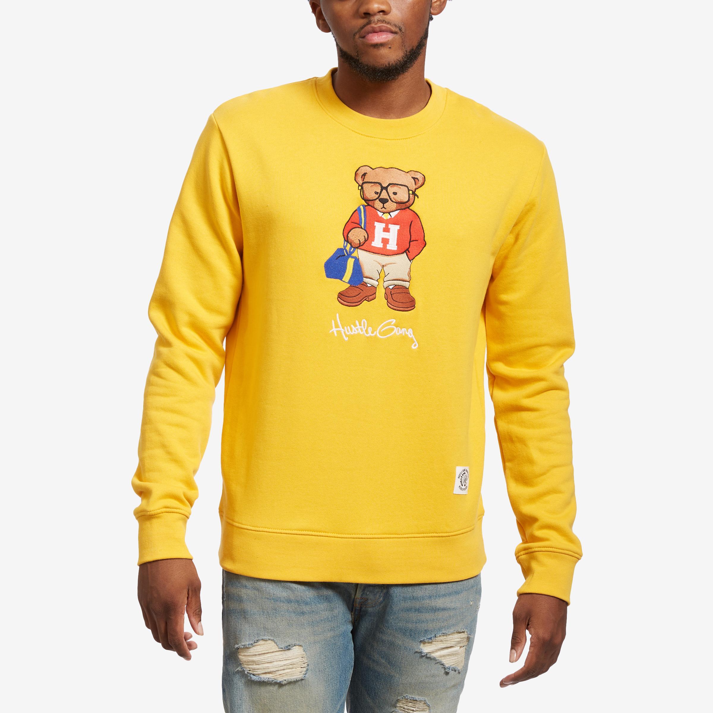 Hustle Bear Crew Sweatshirt
