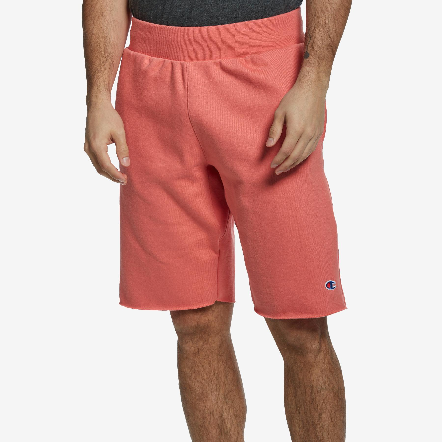 Men's Reverse Weave Cut- Off Shorts, All Over Logo