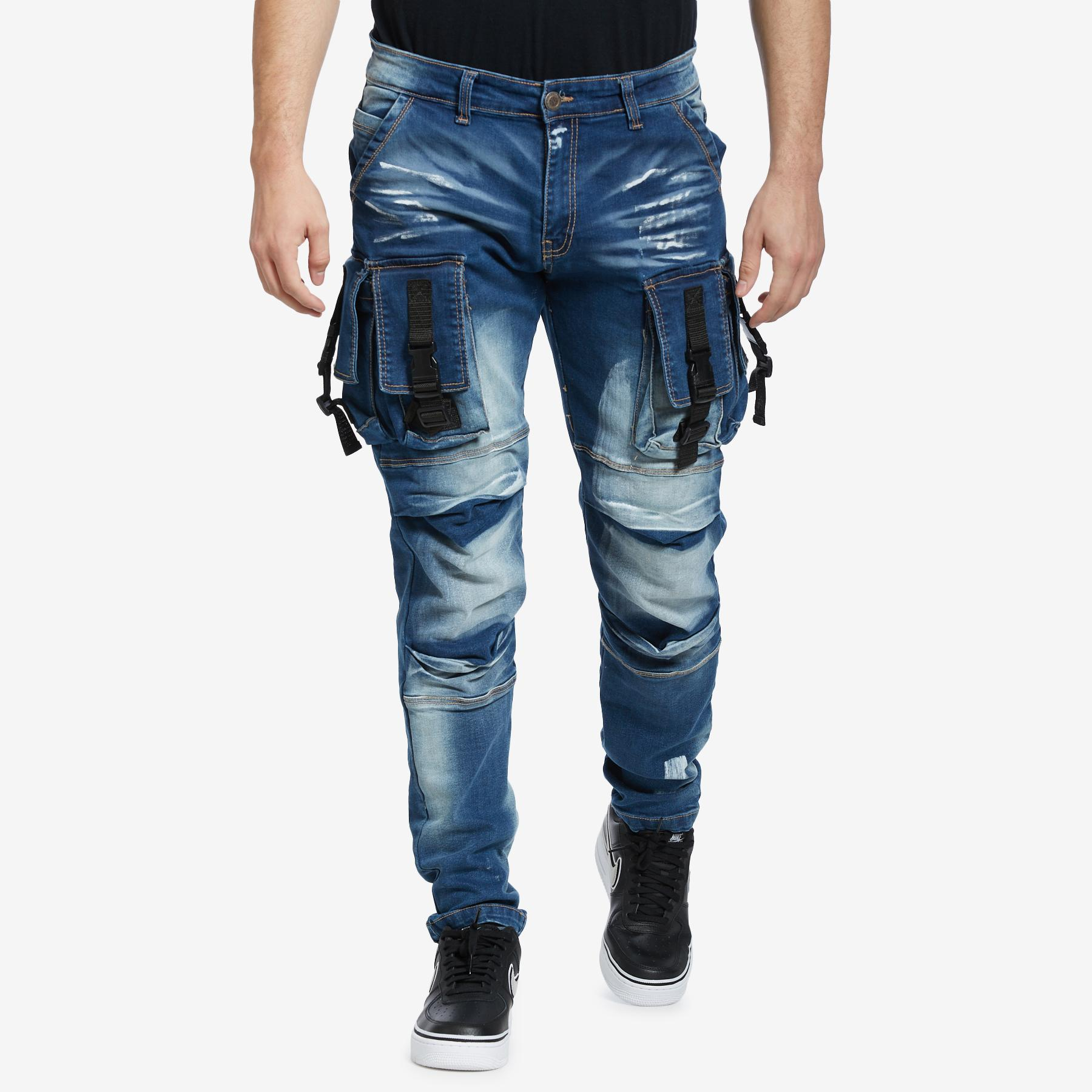 Men's 3d Denim Cargo Jean