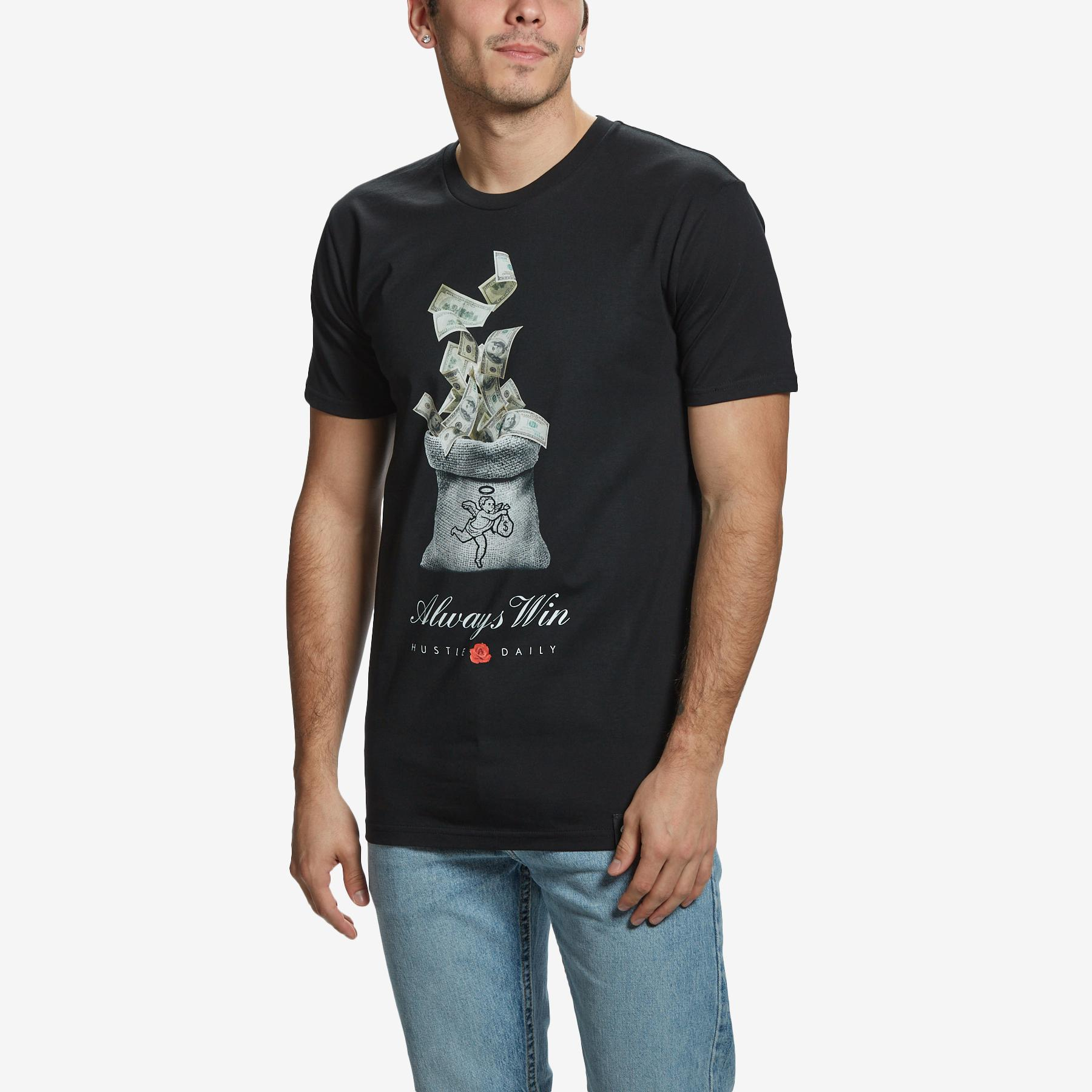 Men's Always Win Cash Bag T- Shirt
