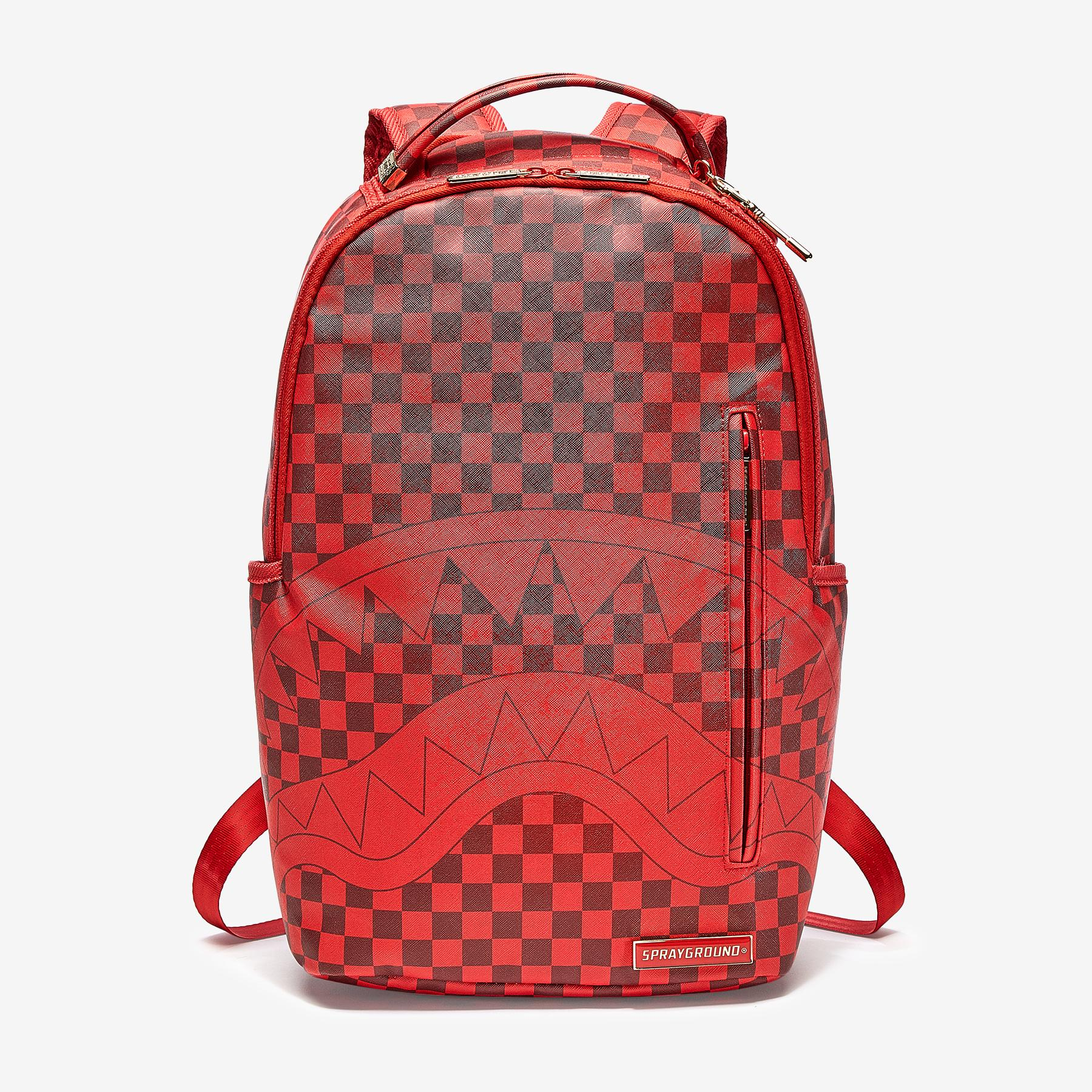 Sharks In Paris (Red Checkered Edition) Backpack
