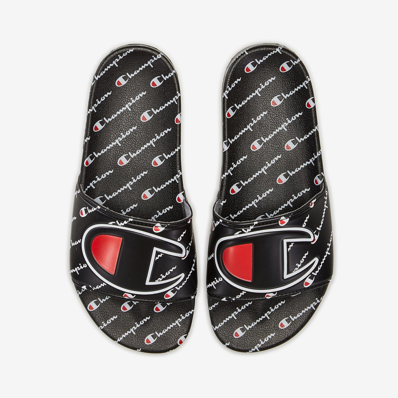 Life Slide Sandals, Repeating Logo