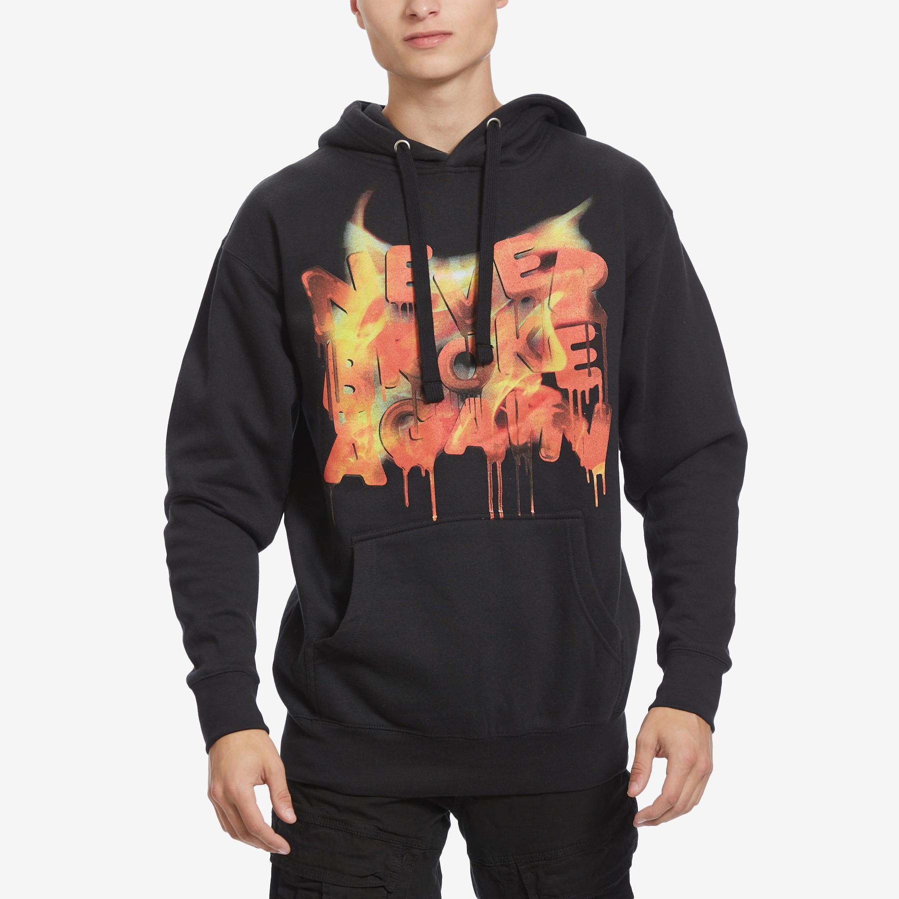 Men's Drip Flame Hoodie