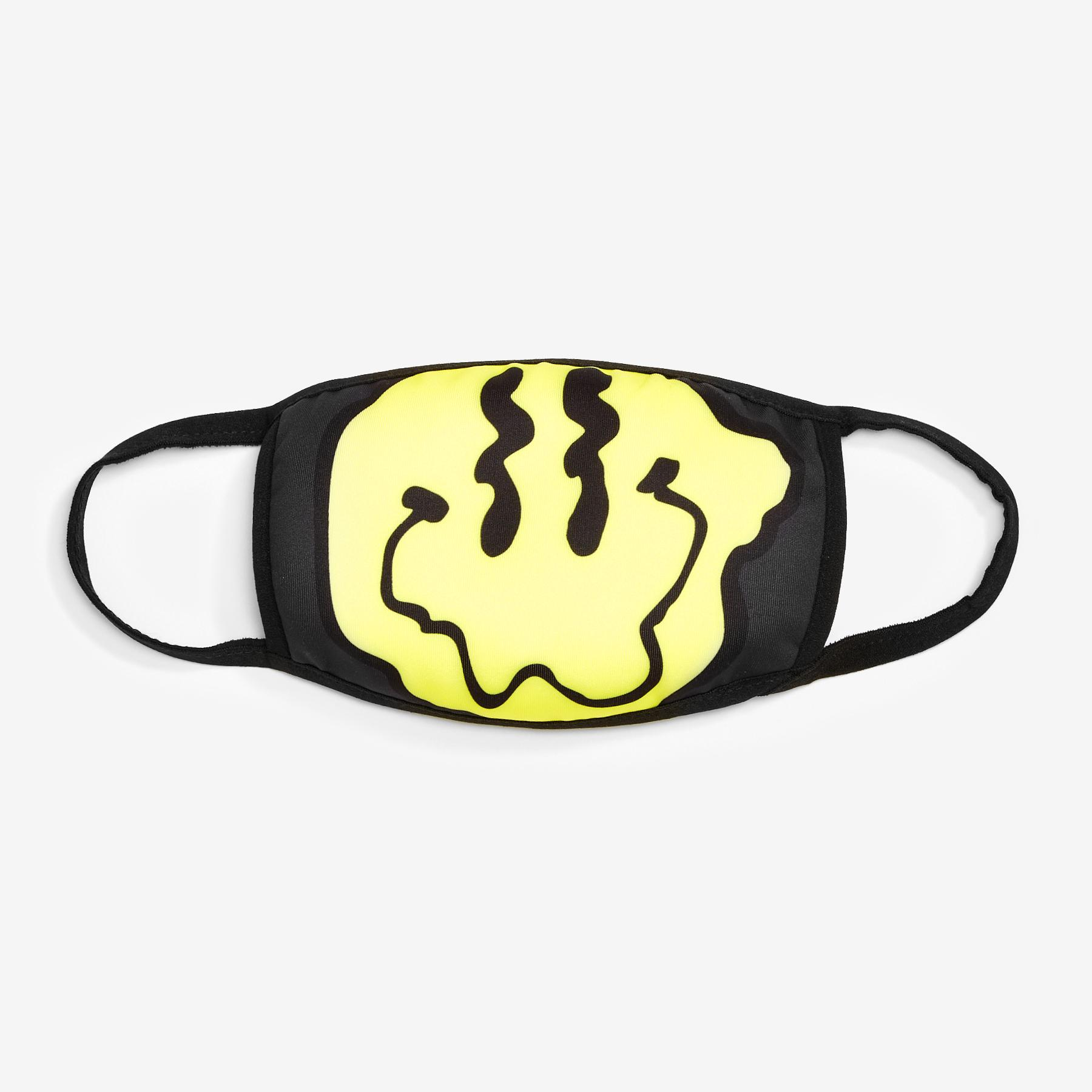 Wavey Smiley Face Mask