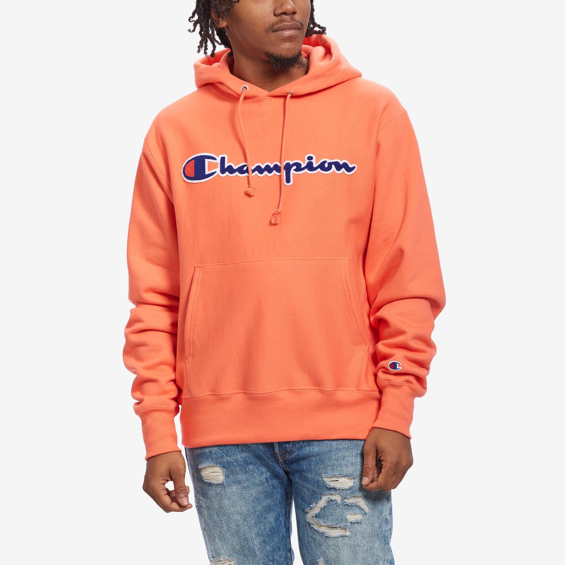 Men's Life Reverse Weave Chenille Logo Pullover Hoodie