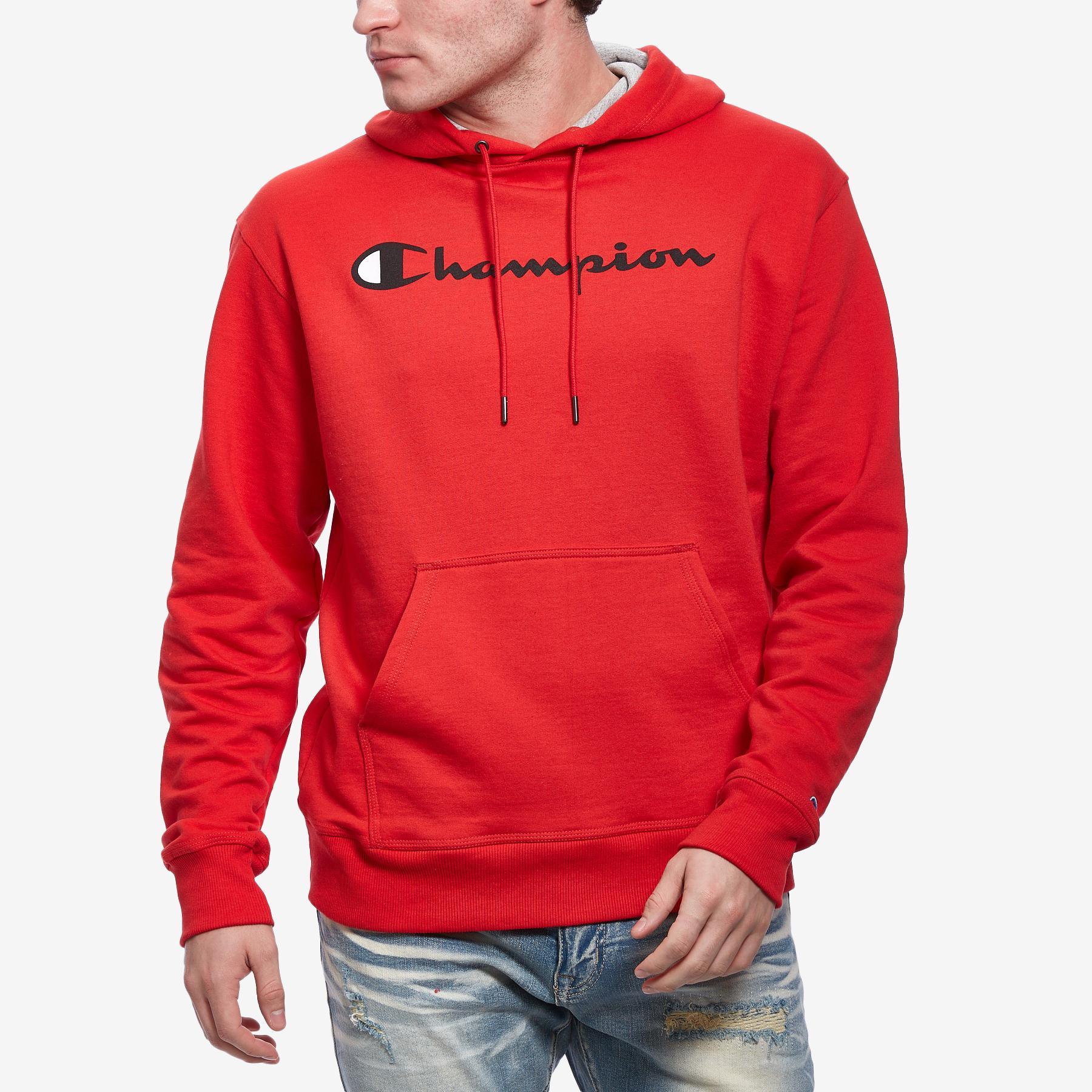 Men's Powerblend Fleece Pullover Hoodie, Script Logo