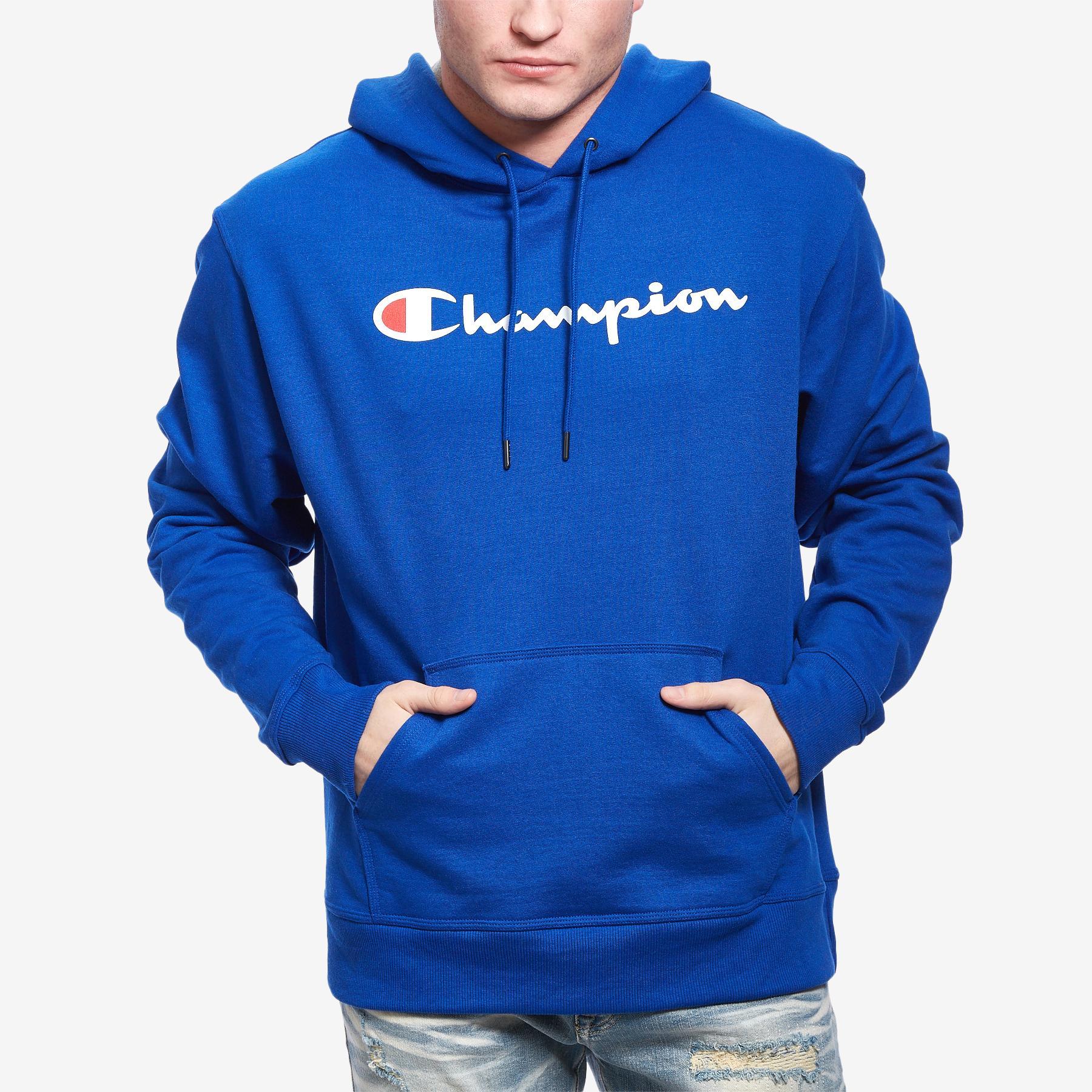 Powerblend Fleece Pullover Hoodie, Script Logo