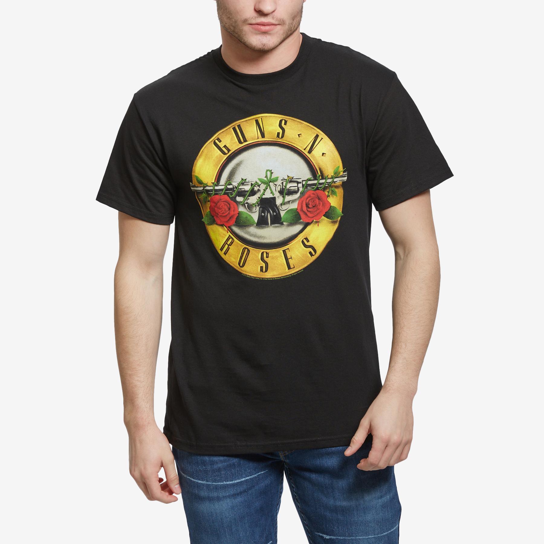 Men's Guns N Roses Bullet Logo T- Shirt