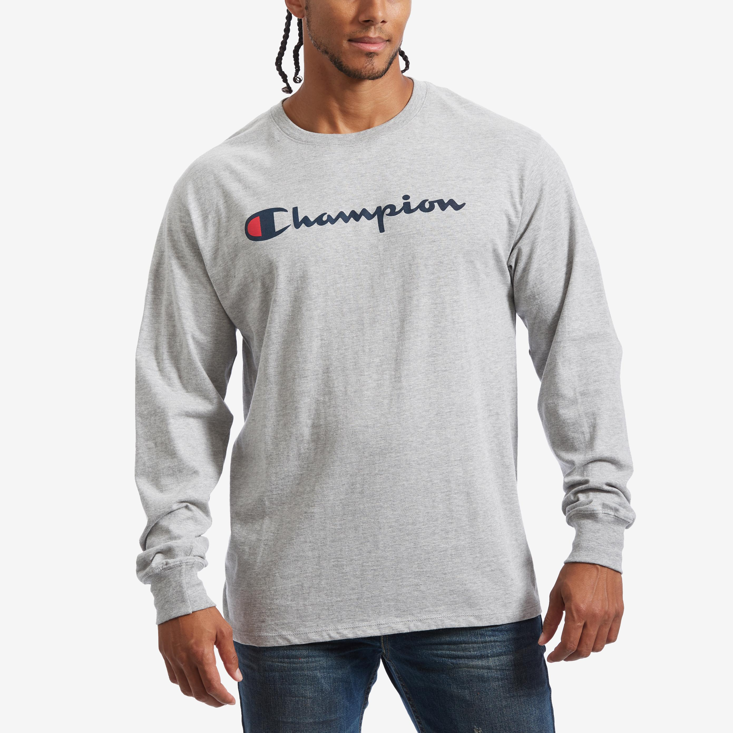 Cotton Jersey Long- Sleeve Tee, Script Logo