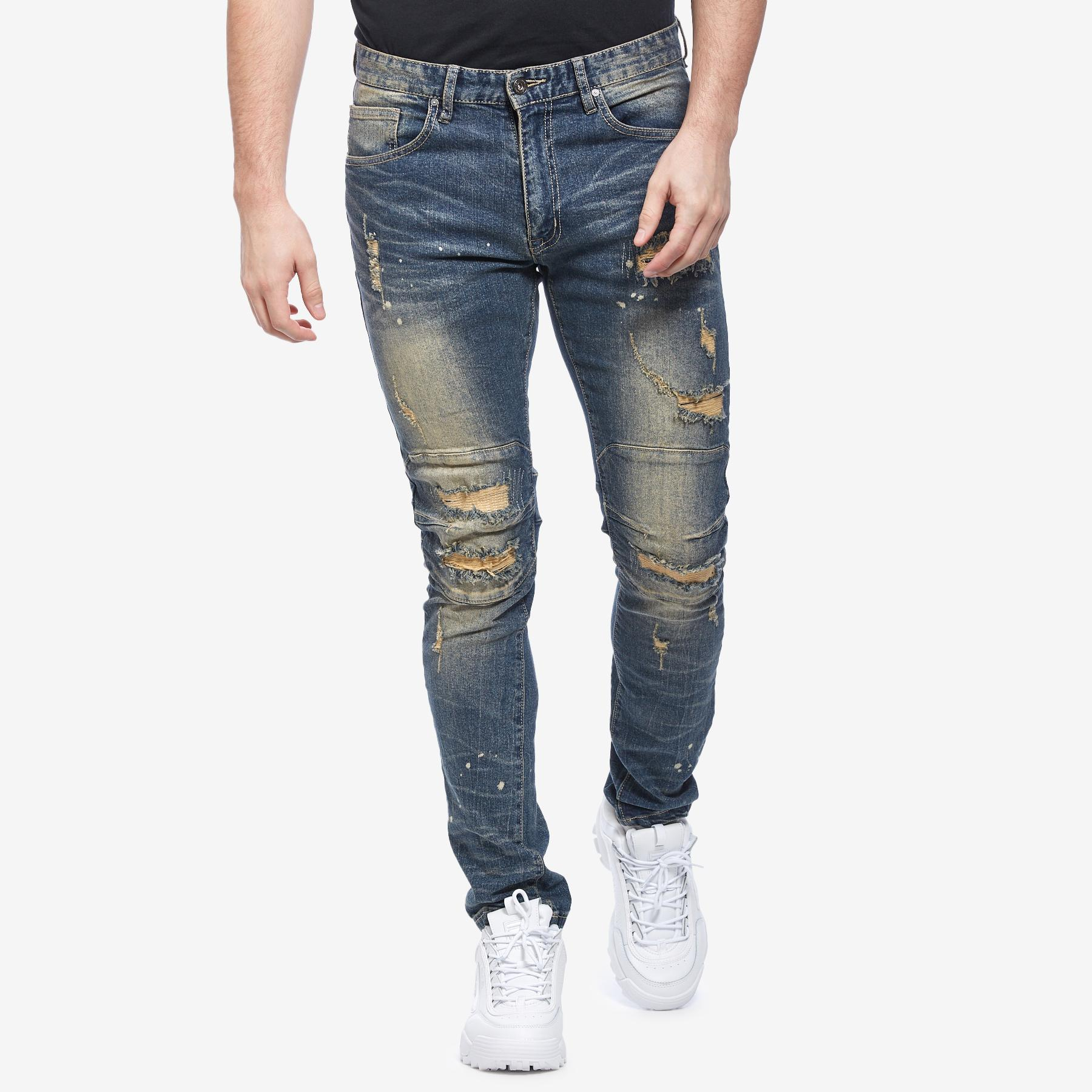 Men's Slim Tapered Distressed Jean