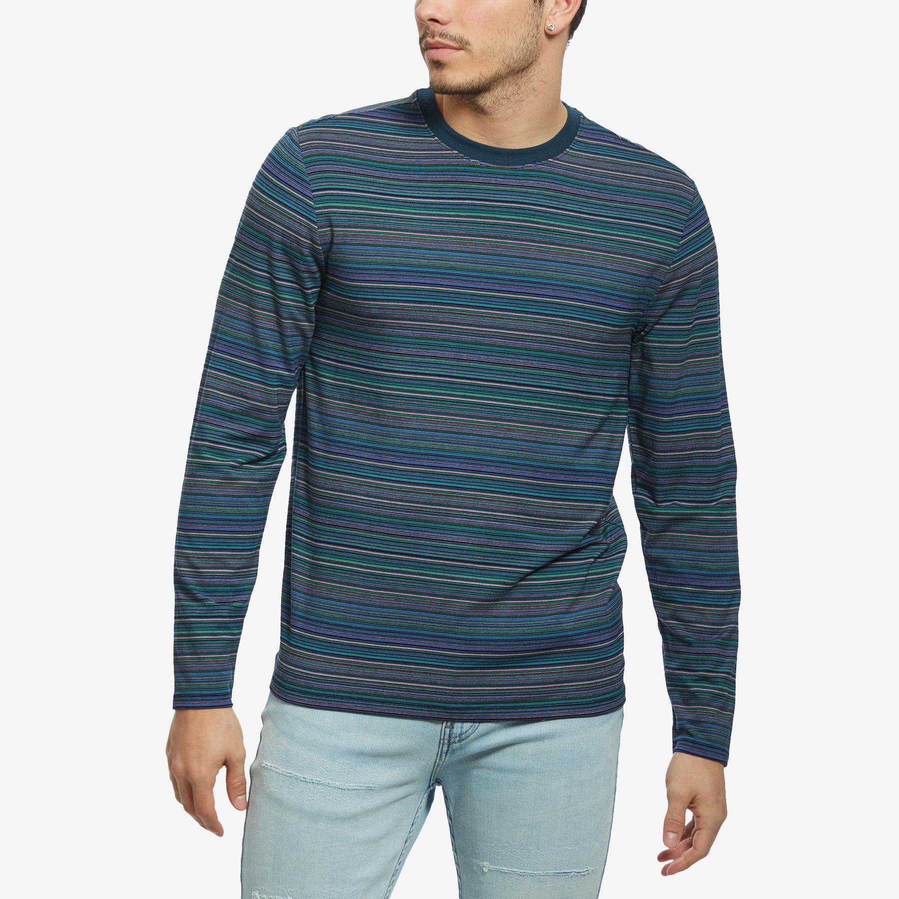 Men's Saturday Striped Long- Sleeve Tee