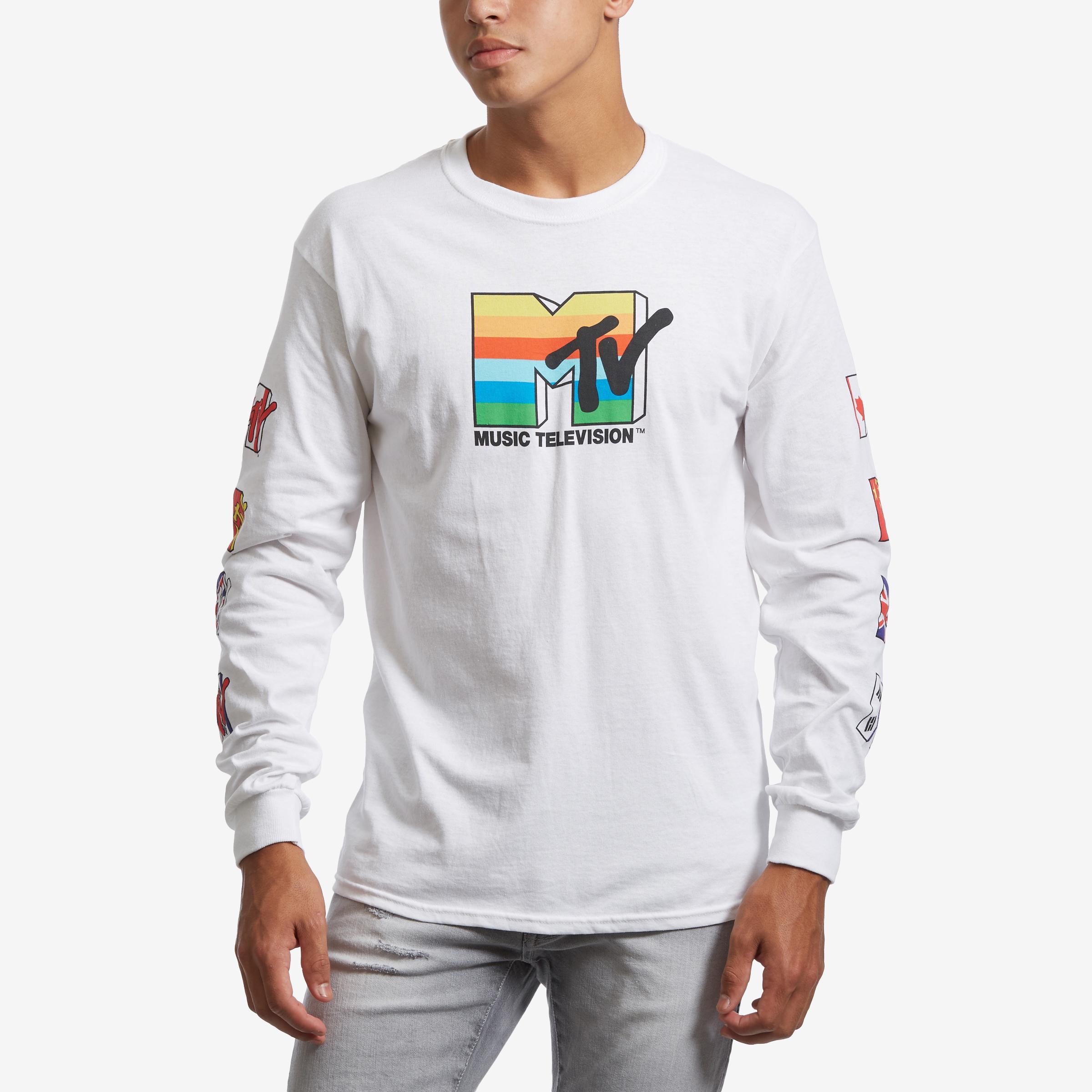 Men's Long Sleeve Mtv T- Shirt