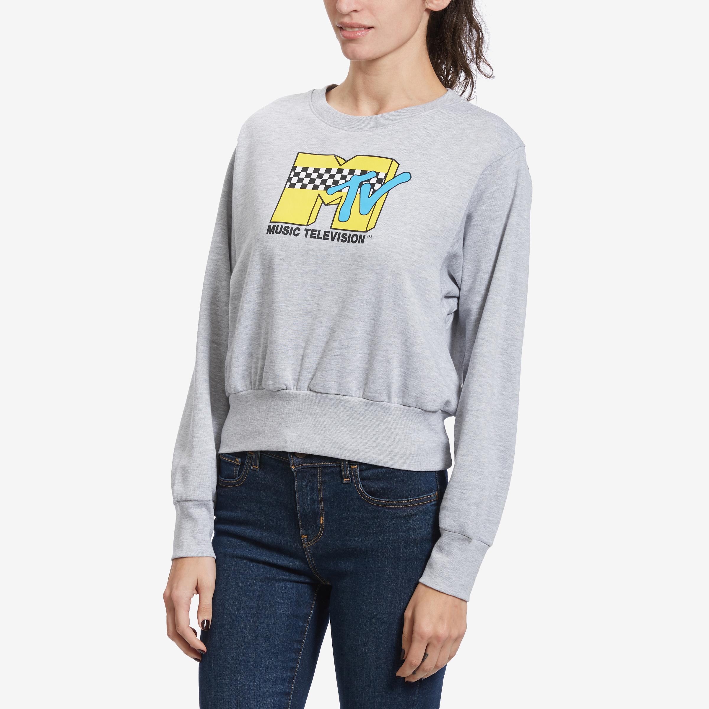 Women's Mtv Cropped Crew