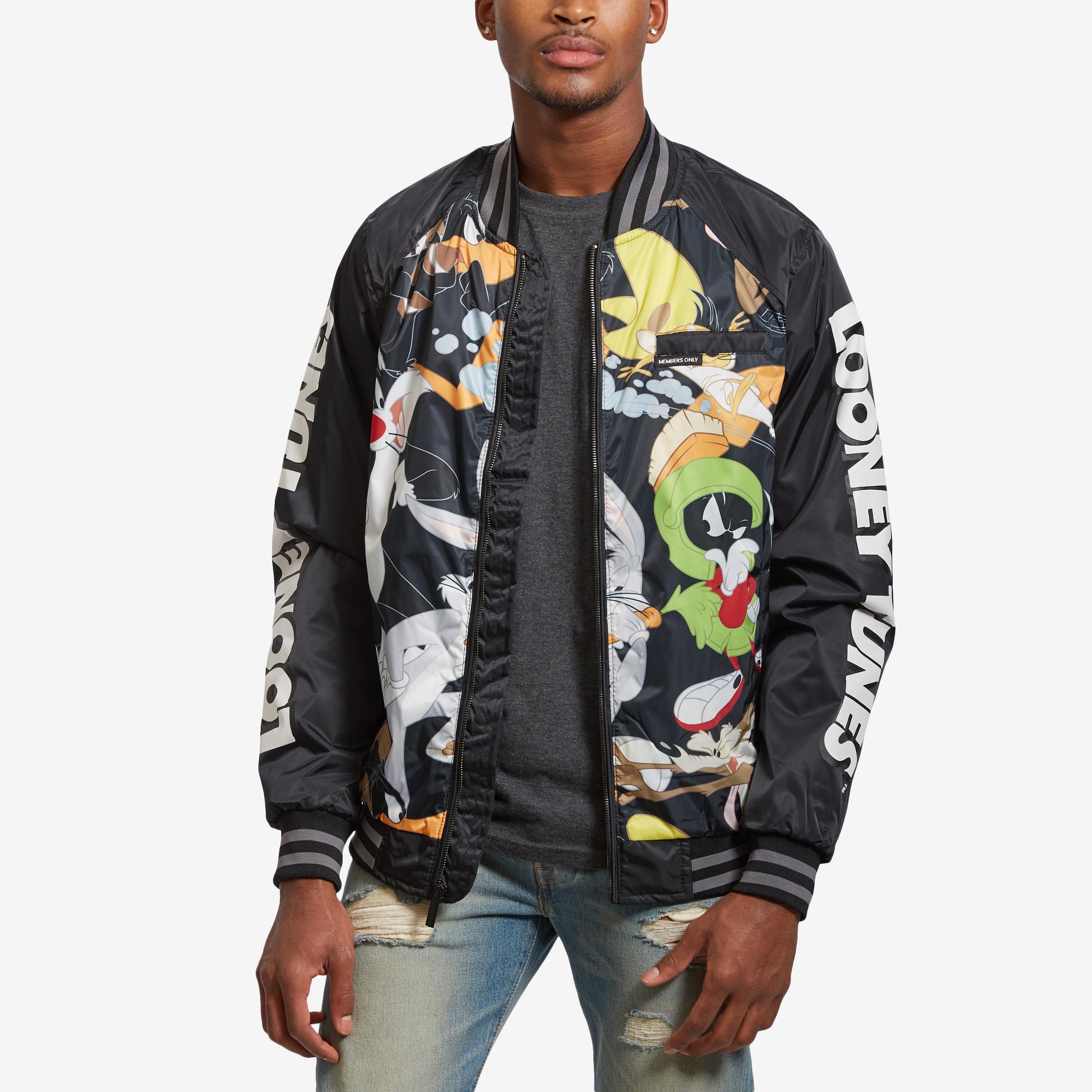 Men's All Over Mash Print Bomber Jacket