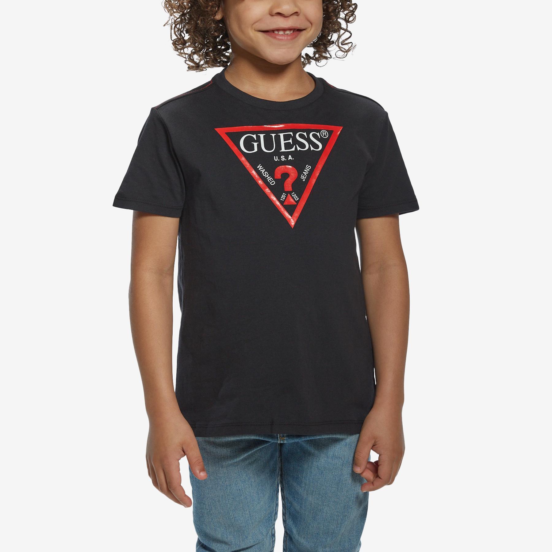 Boy's Short Sleeve Triangle Logo Tee