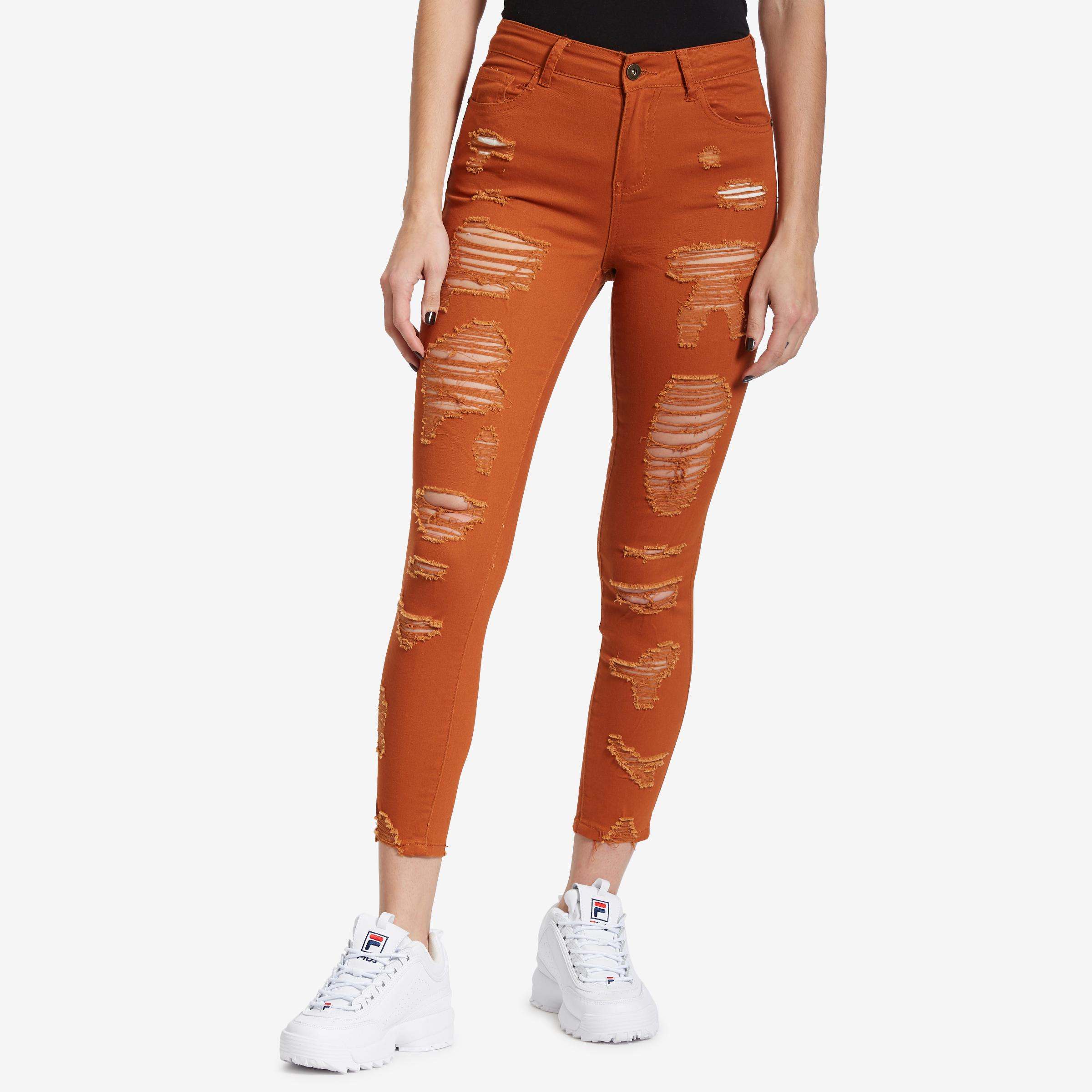 Women's Distressed Jeans
