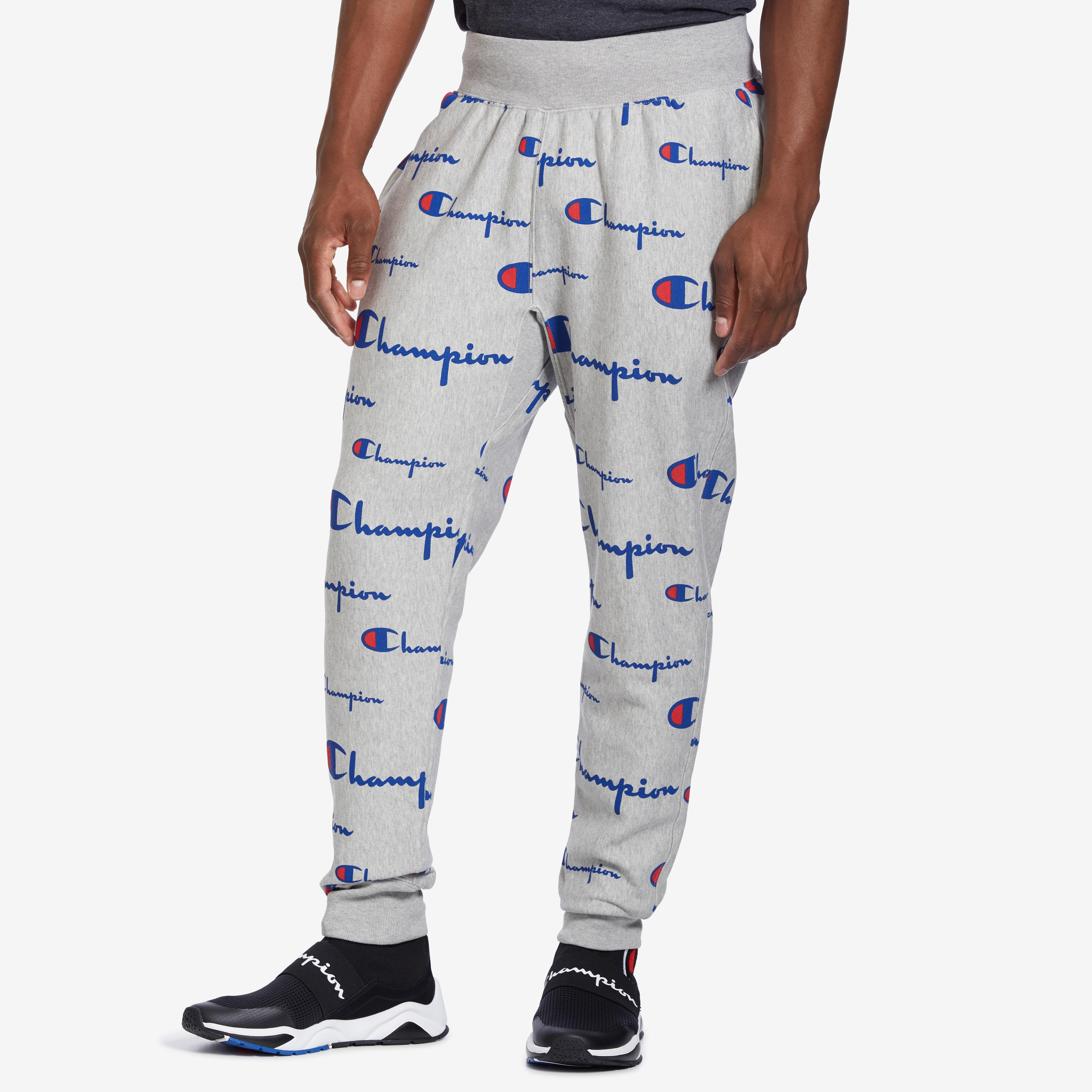 Men's Life Reverse Weave Joggers, All Over Logo