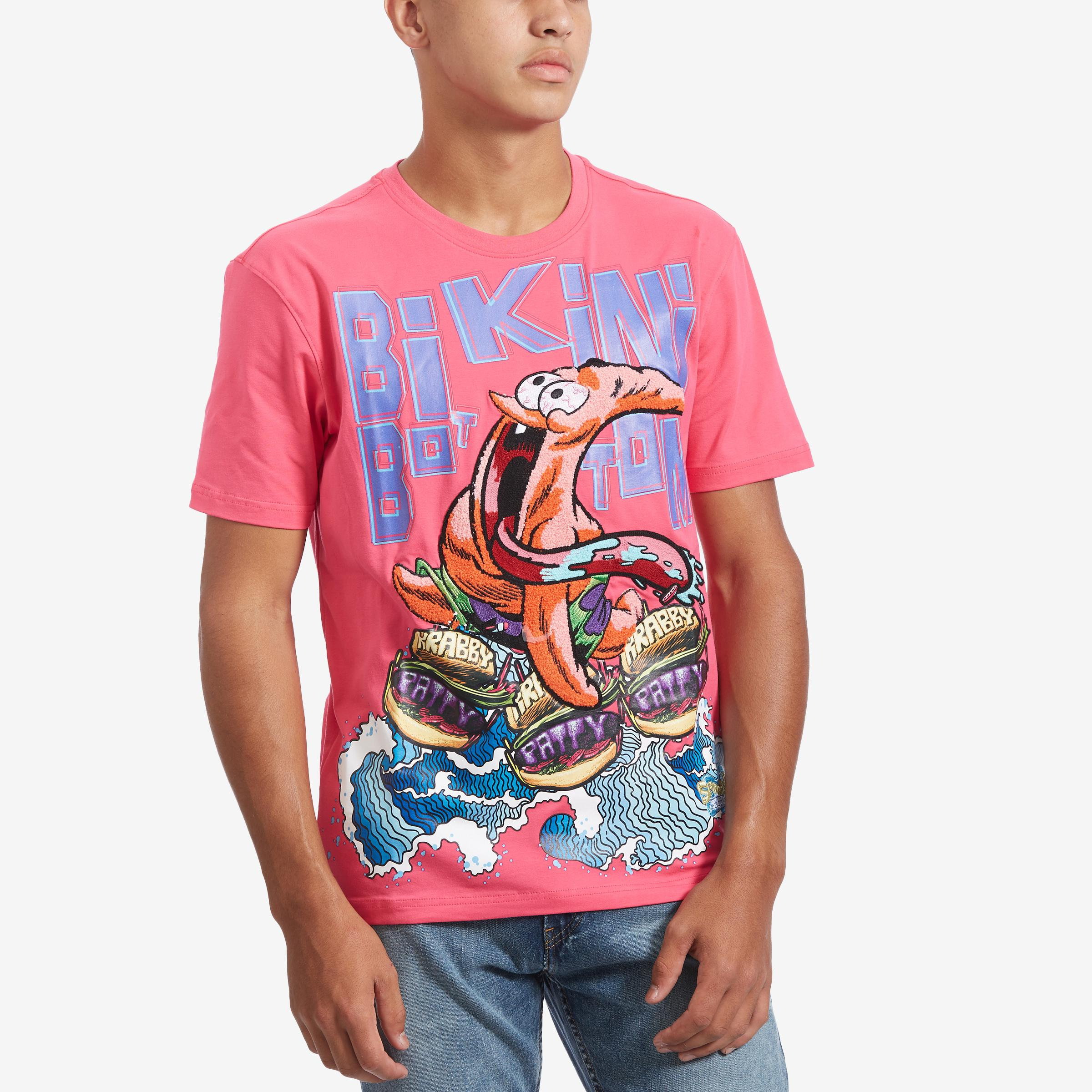 Men's Bikini Bottom Burger T- Shirt