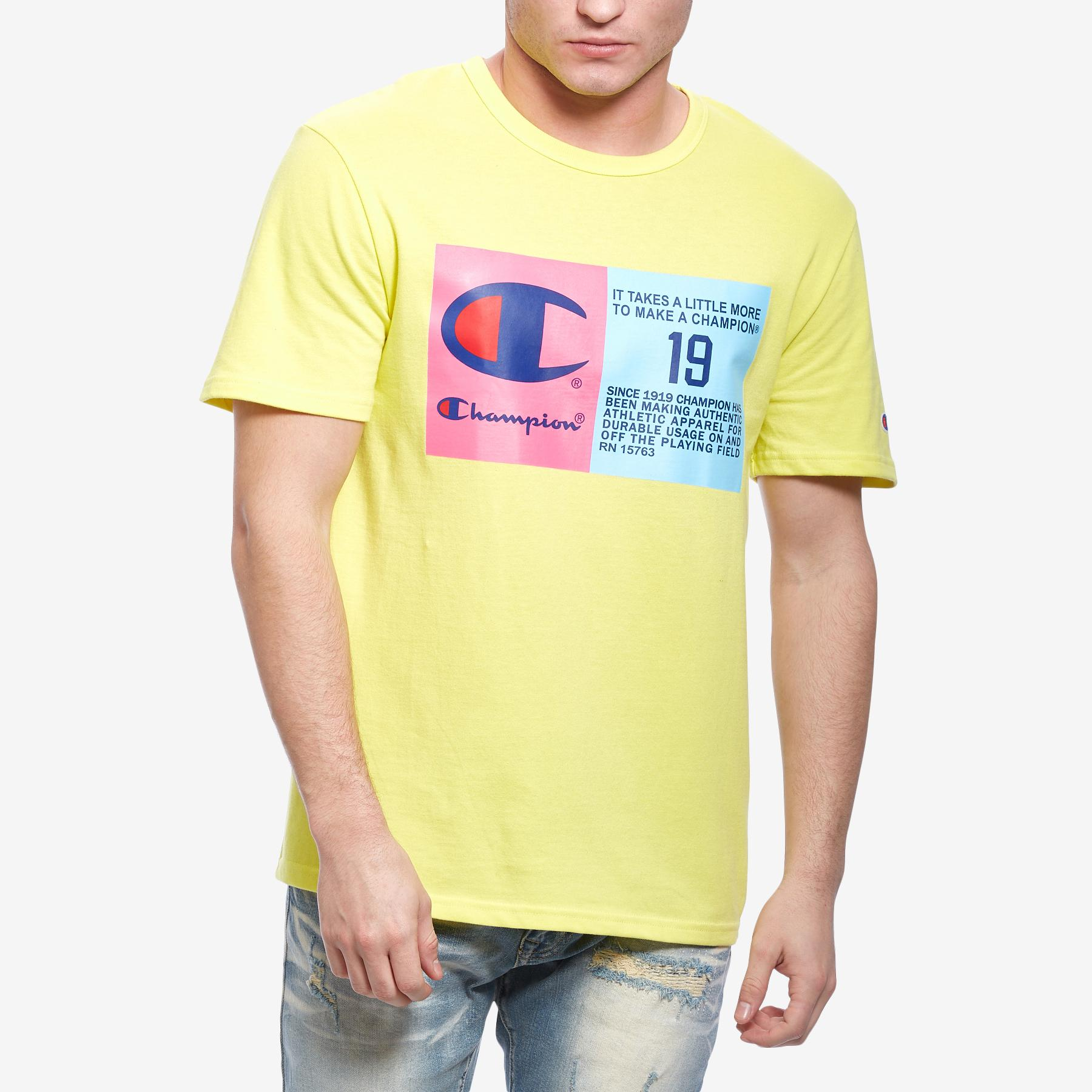 Men's Life   Heritage Tee, Pop Color Jock Tag