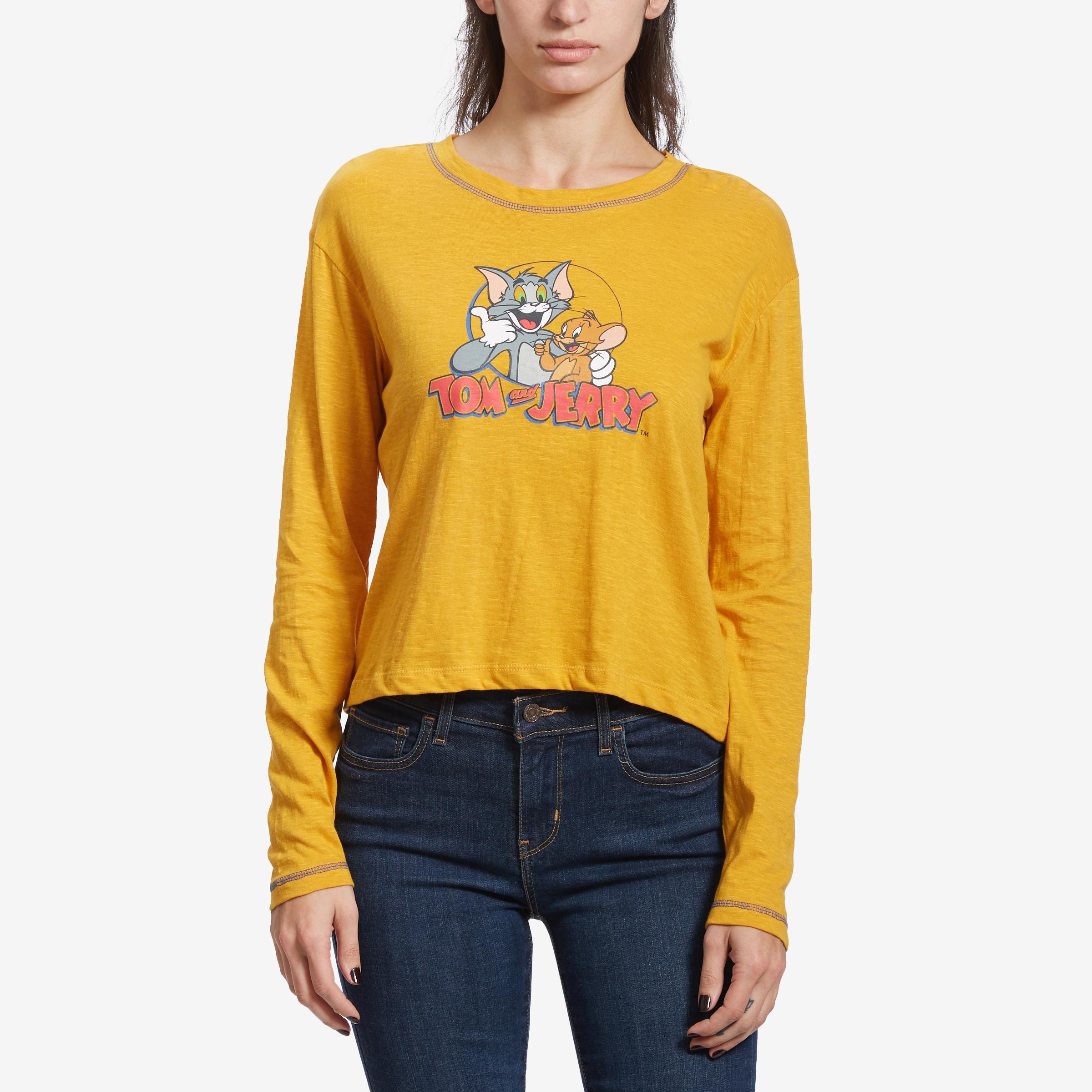 Tom & Jerry Long Sleeve Skimmer T- Shirt