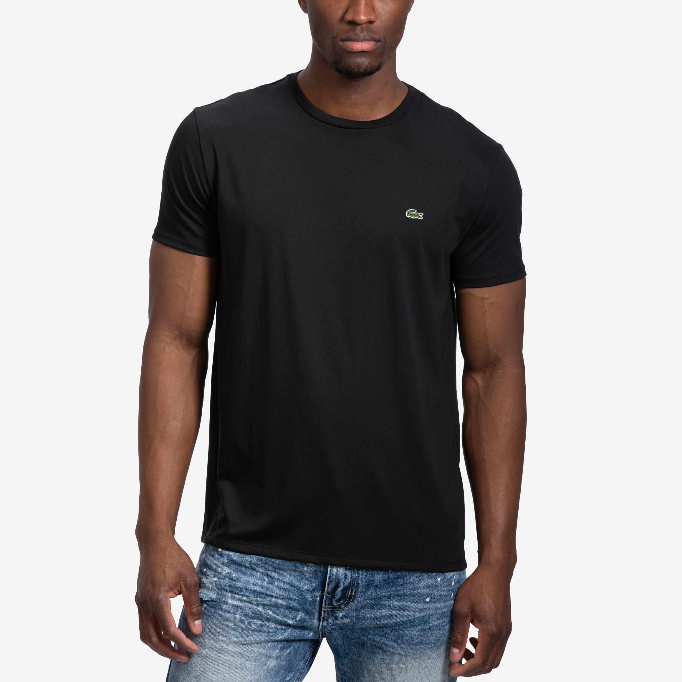 Crew Neck Pima Cotton Jersey T- Shirt