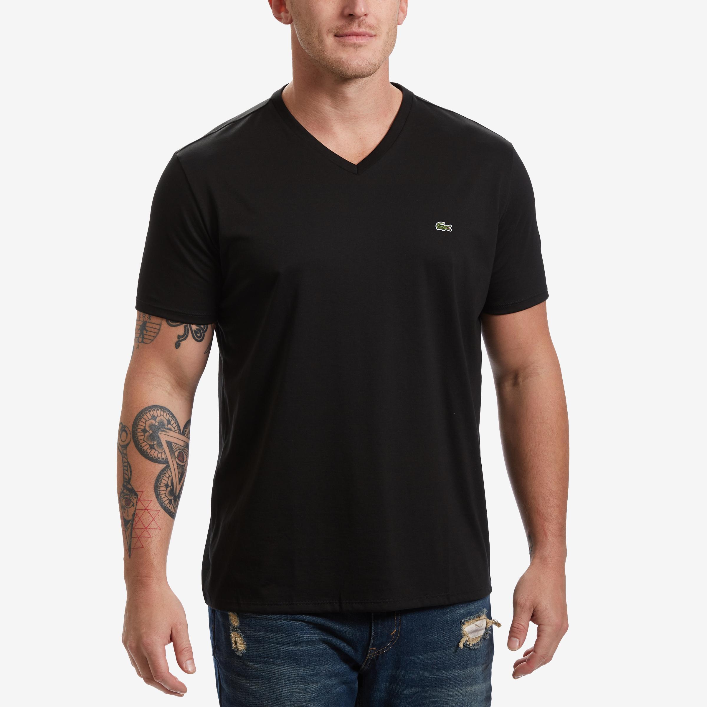 V- Neck Pima Cotton Jersey T- Shirt