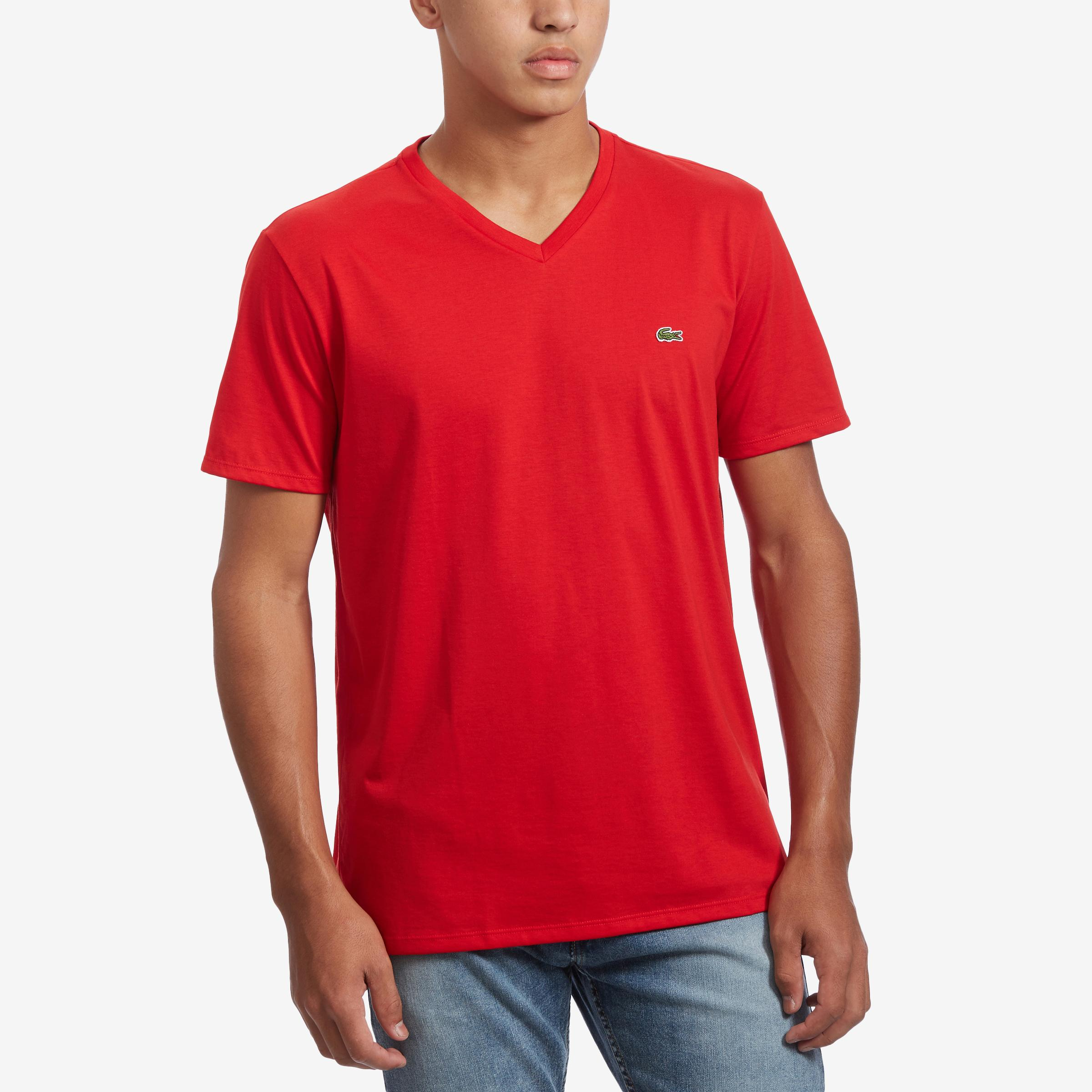 Men's V- Neck Pima Cotton Jersey T- Shirt