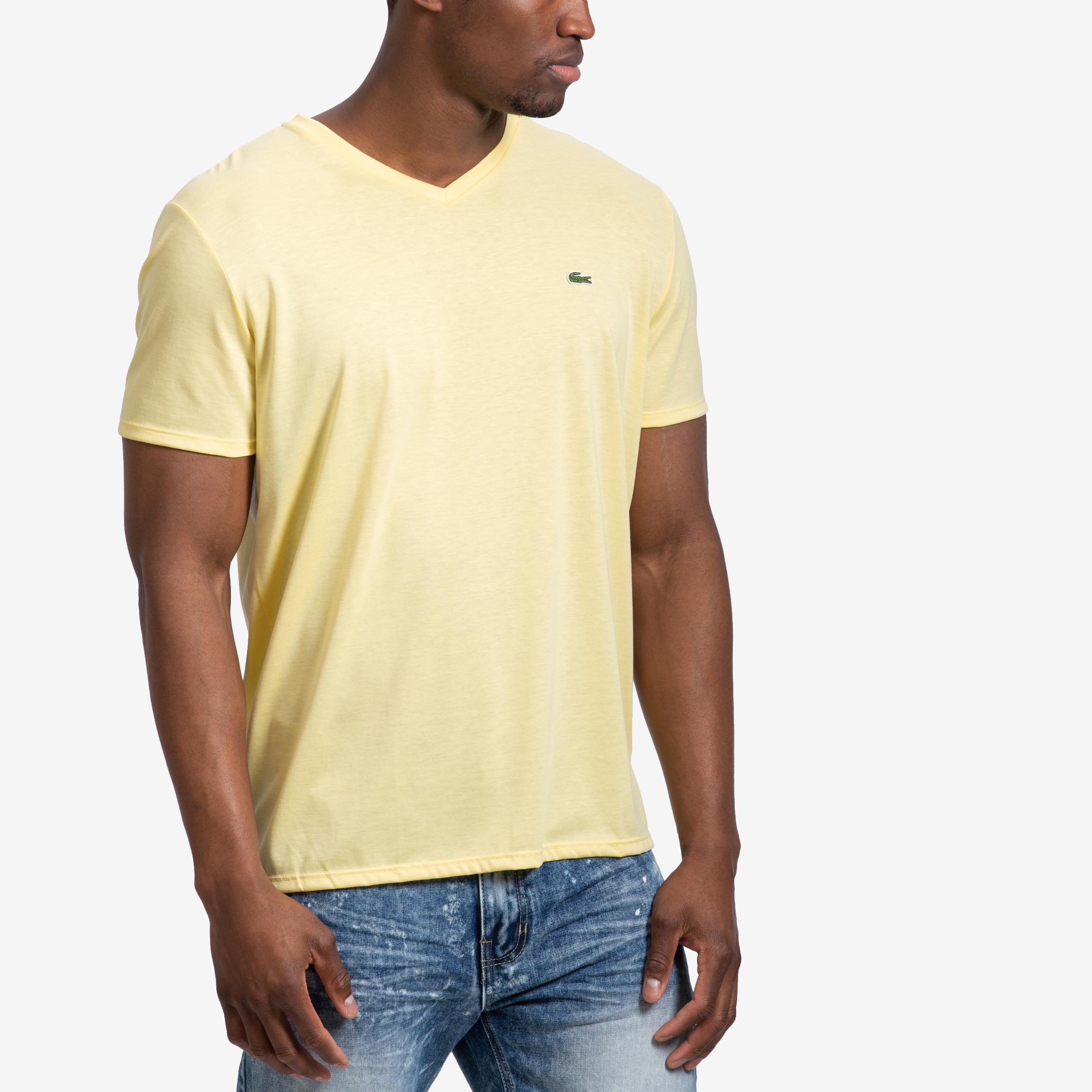 V- Neck Pima Cotton Jersey T- Shirt