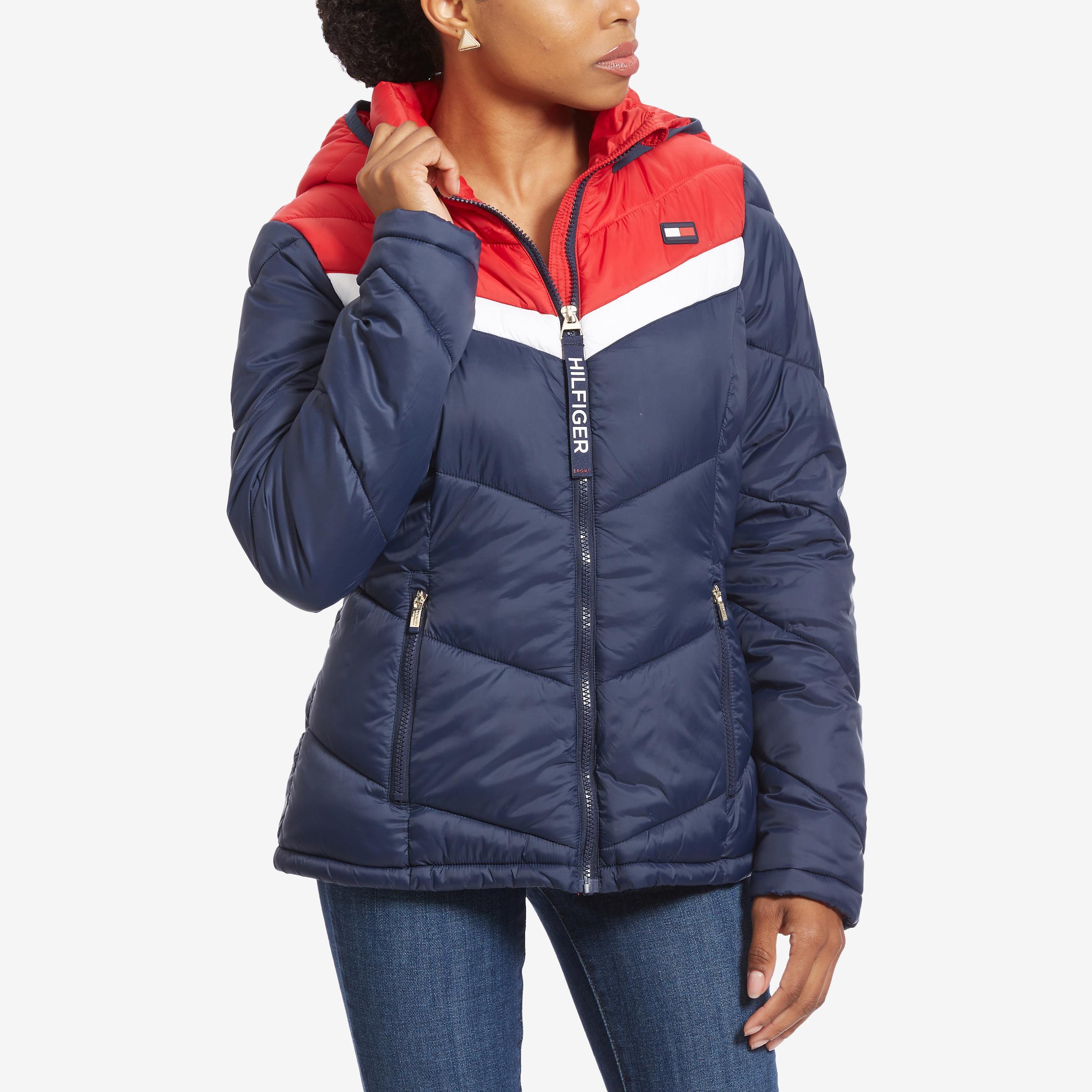 Chevron Hooded Jacket