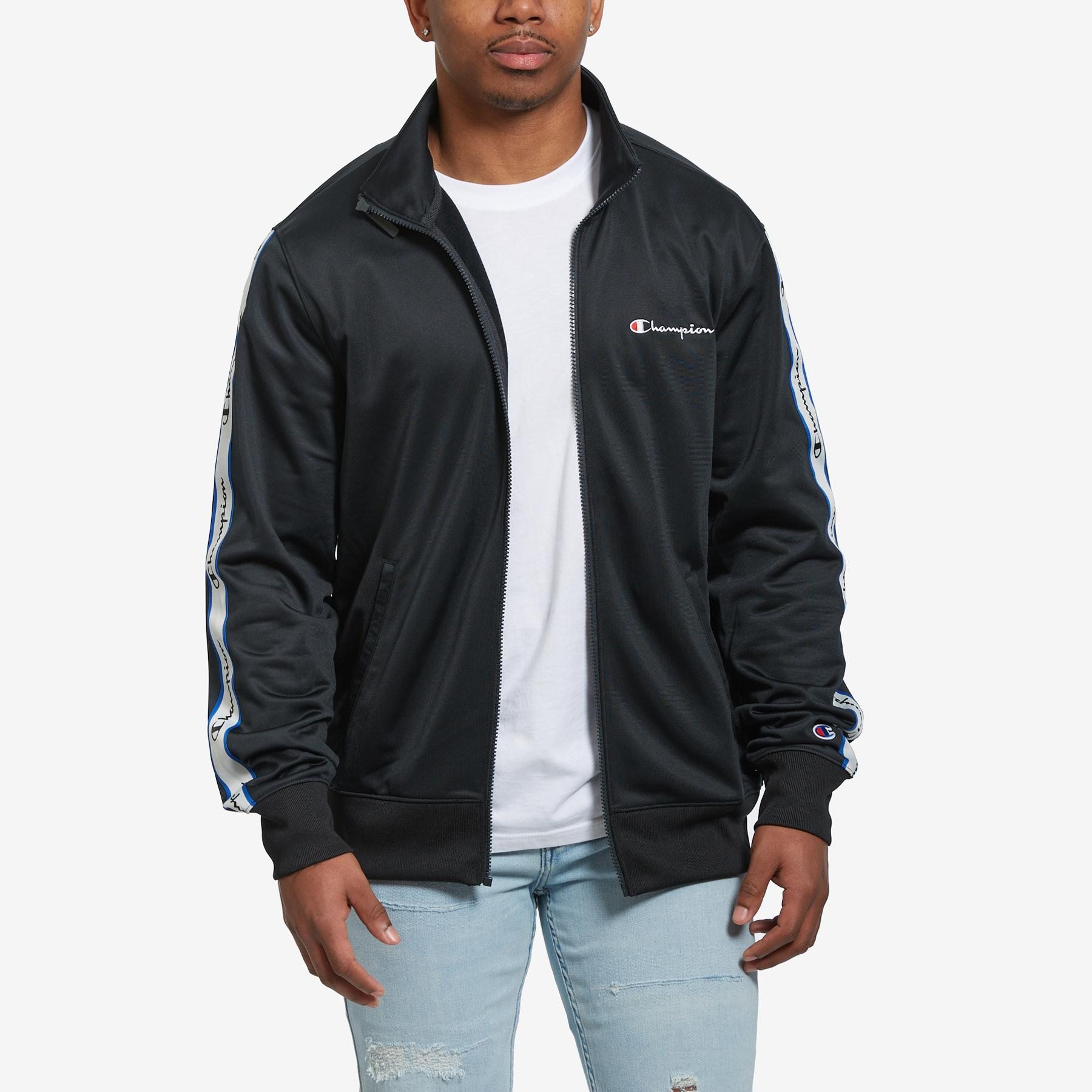 Men's Track Jacket, Vertical Logo