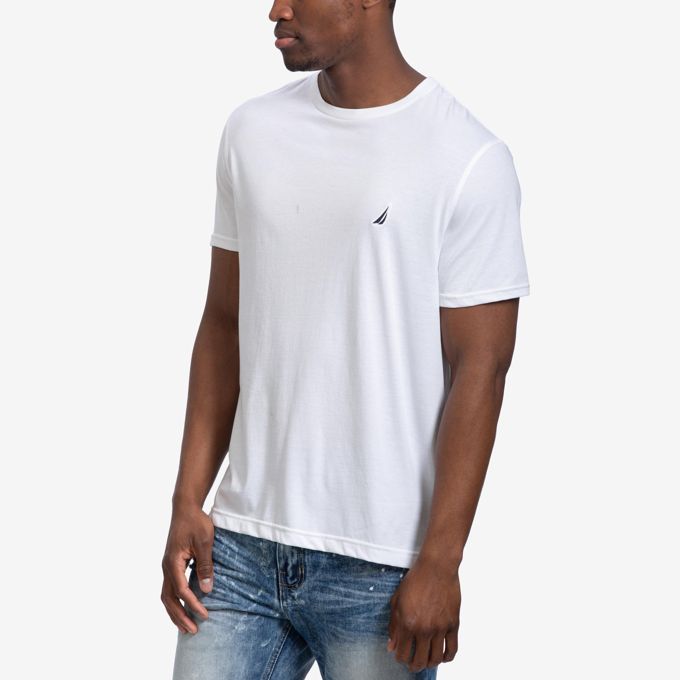 Men's Solid Crew Neck Short Sleeve T- Shirt