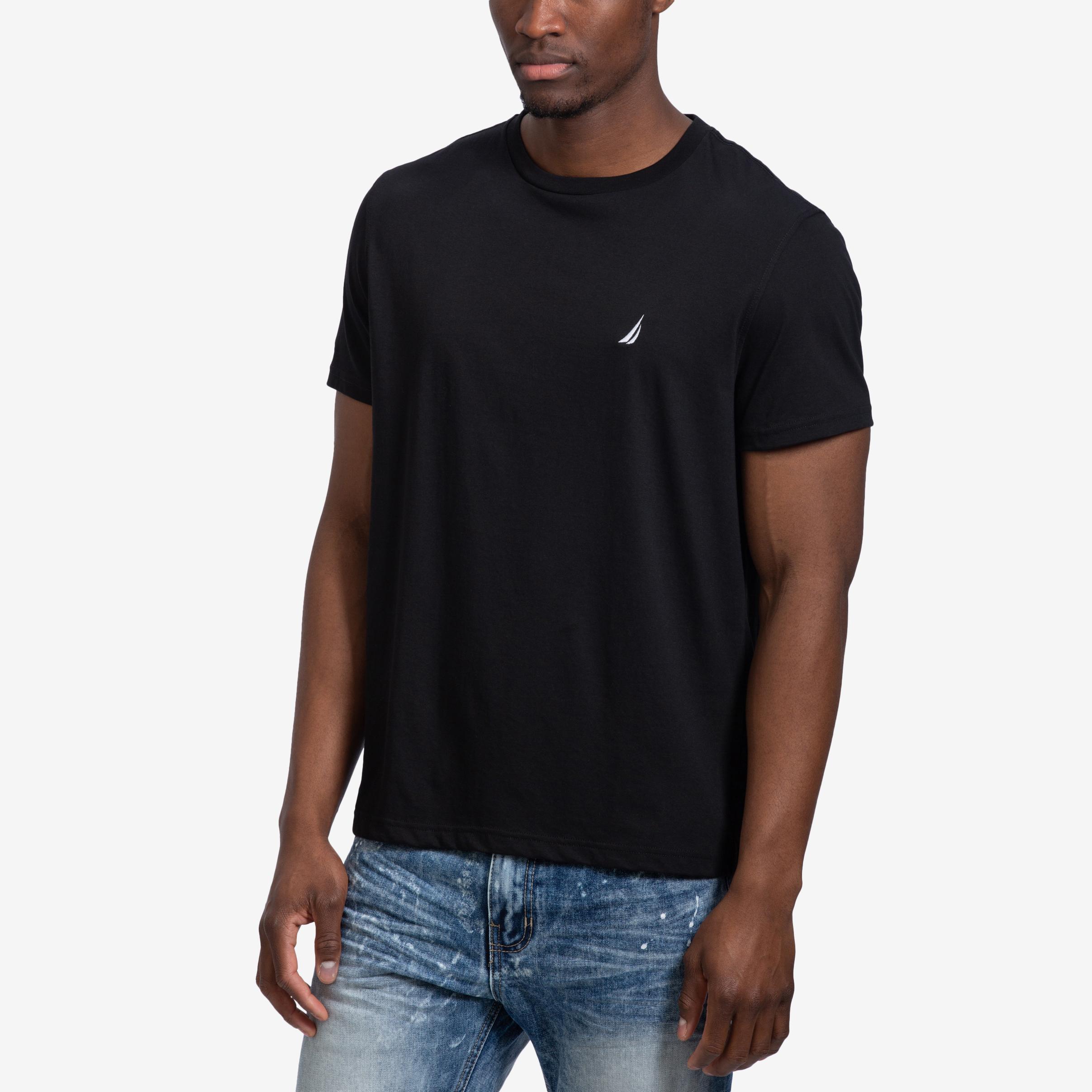 Solid Crew Neck Short Sleeve T- Shirt