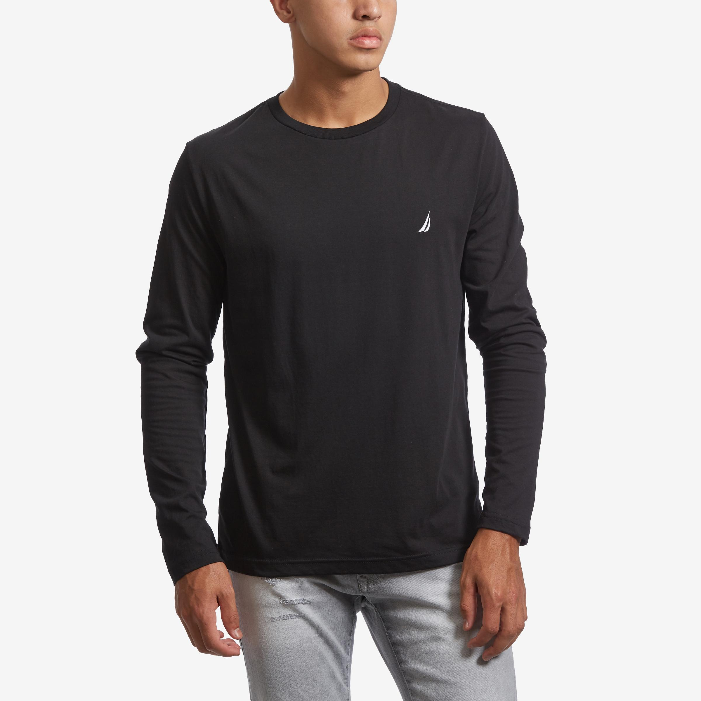 Men's Long Sleeve Crew Neck T- Shirt