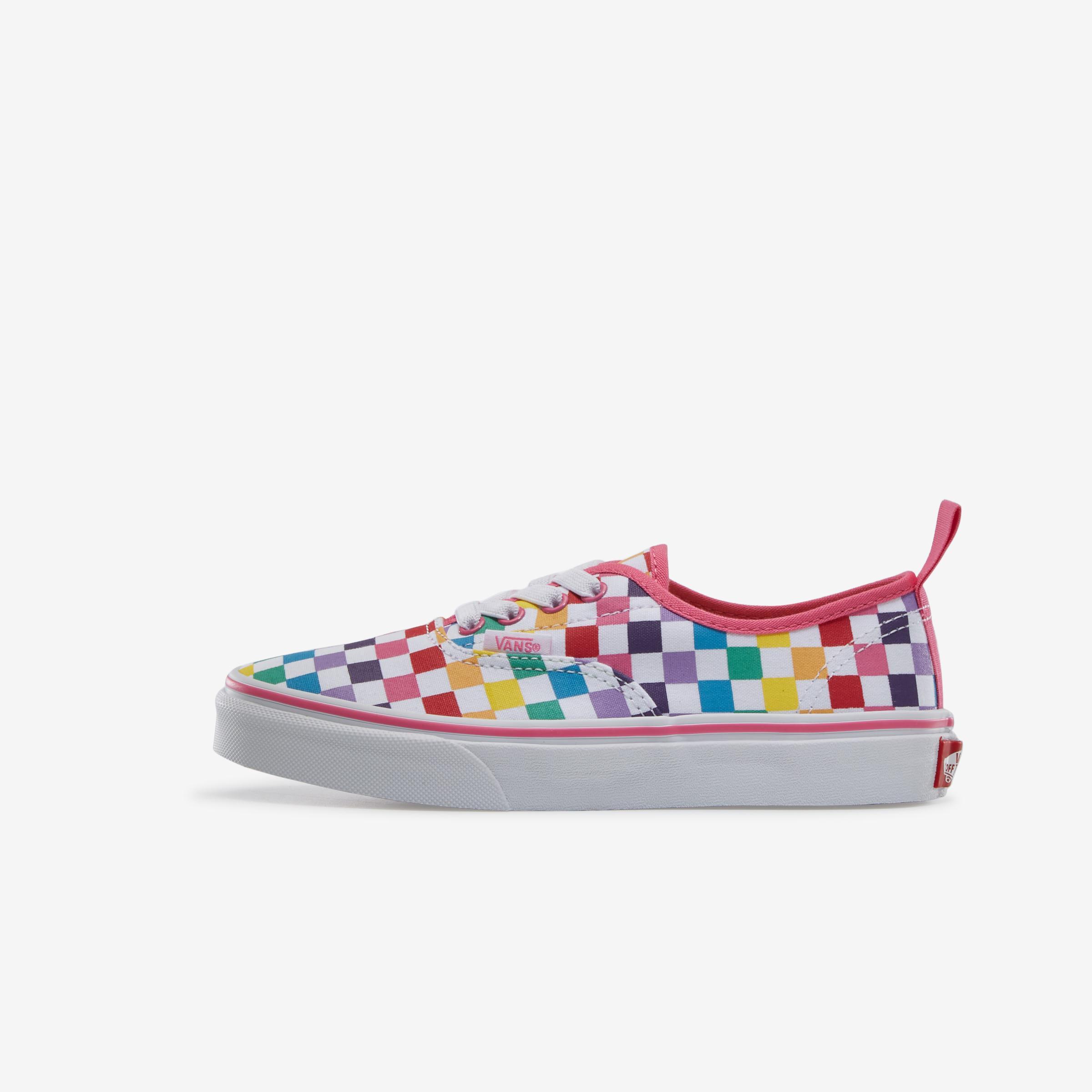 Boy's Preschool Rainbow Classic Checker Slip- On