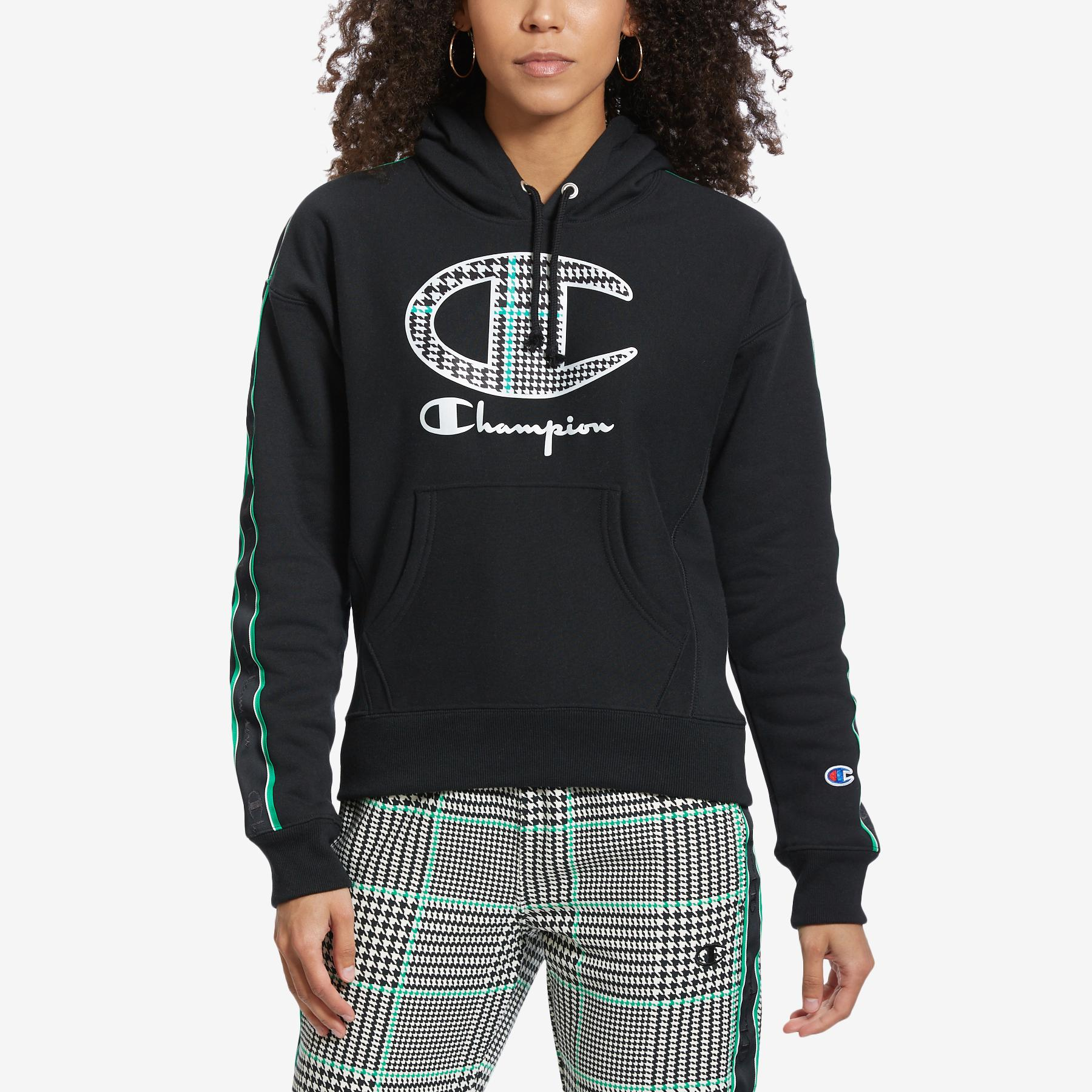 Women's Life Reverse Weave Pullover Hoodie With Houndstooth Logo