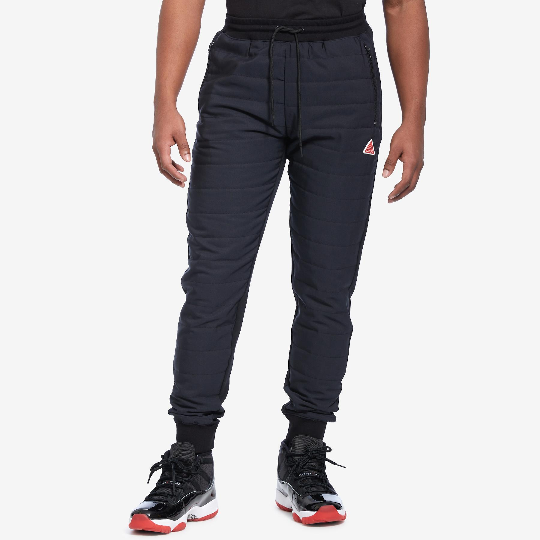 Men's Quilted Nylon Panel Pant
