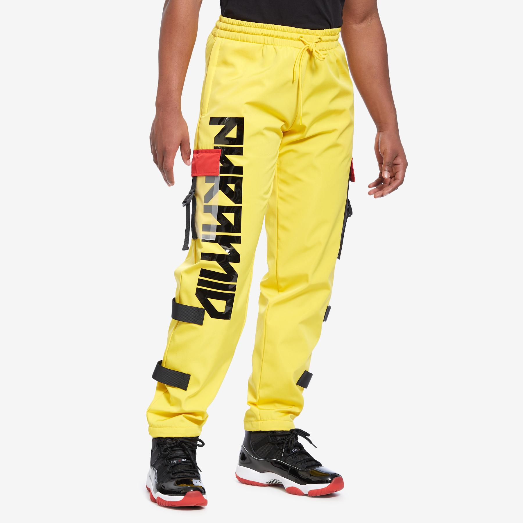 Clear Pocket Strapped Pant